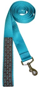 Dog Leash Blue with White Fish One Size Fits All