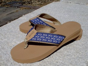 Mens Sandal Blue with White Fish
