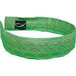 Head Band Green with Pink Fish One Size Fits All