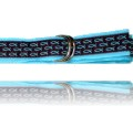 Womens D-ring Belt Brown with Turquoise Fish